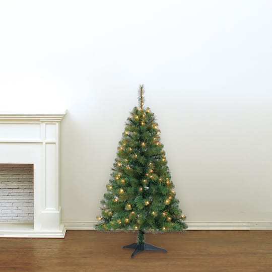 4ft Christmas Tree.4ft Pre Lit Riverside Pine Artificial Christmas Tree Clear Lights By Ashland