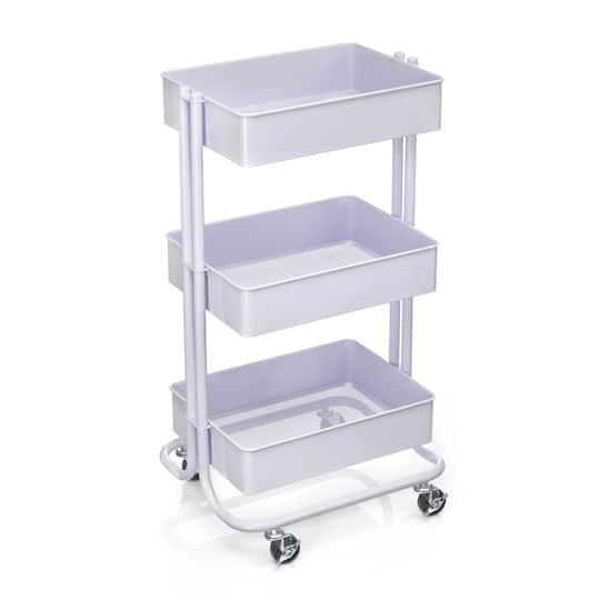 Lavender Lexington 3-Tier Rolling Cart by Recollections™