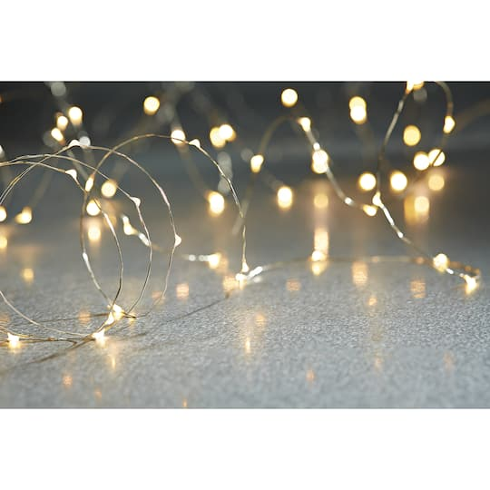 3 String 5.5' Martha Stewart Led Branch Fairy Lights Novelty Wire Clear Timer