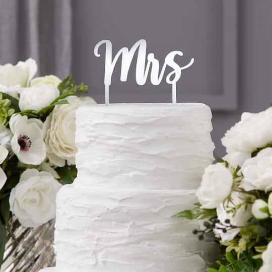 David Tutera™ Silver Mrs Cake Topper