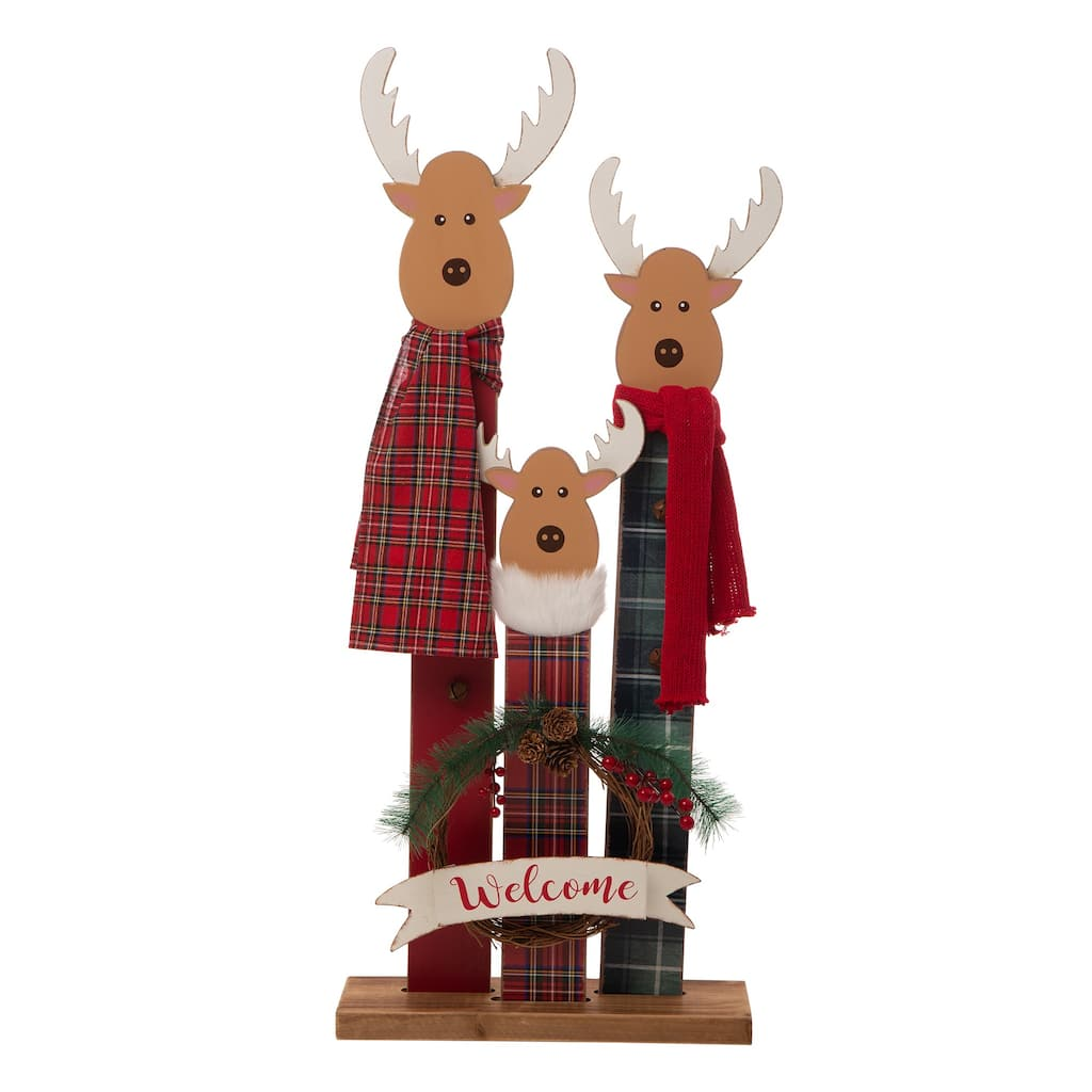 Glitzhome 35 Wooden Reindeer Family Porch Sign Michaels