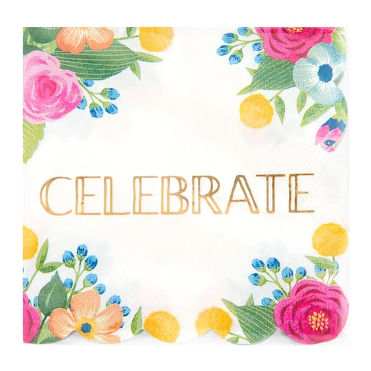 Celebrate Beverage Napkins By It Spring 24ct Michaels