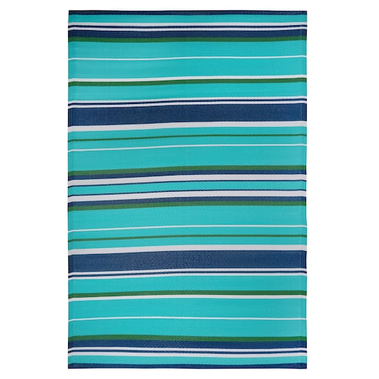 Blue Striped Outdoor Rug By Ashland 174 4ft X 6ft Michaels