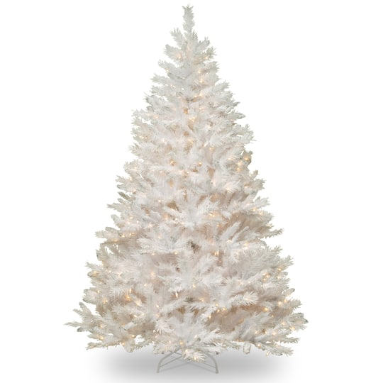6ft Pre Lit Winchester White Pine Artificial Christmas Tree Clear Lights