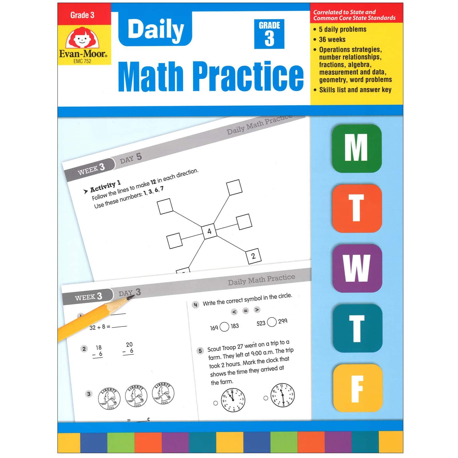 Shop The Evan Moor® Daily Math Practice, Grade 3 At Michaels.com