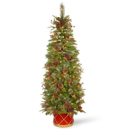 Half Of Christmas Lights Dont Work.6ft Colonial Slim Half Artificial Christmas Tree Clear Lights