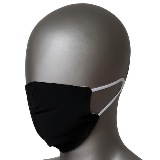 Black 2 Layer Fabric Face Mask Michaels