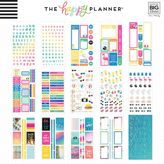 Planner Stickers No Place Like Home Monthly Kit Classic Happy Planner