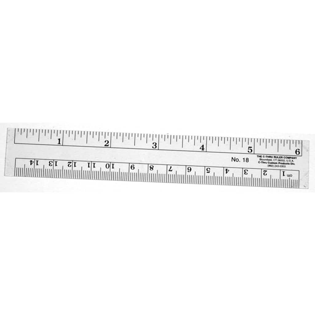 "Westcott® C-Thru Flexible Inch & Metric Ruler, 6"", zoom"