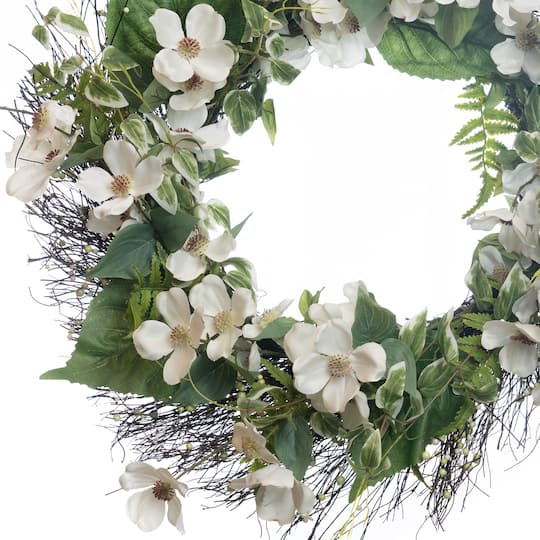 Buy The White Dogwood Wreath By Ashland At Michaels