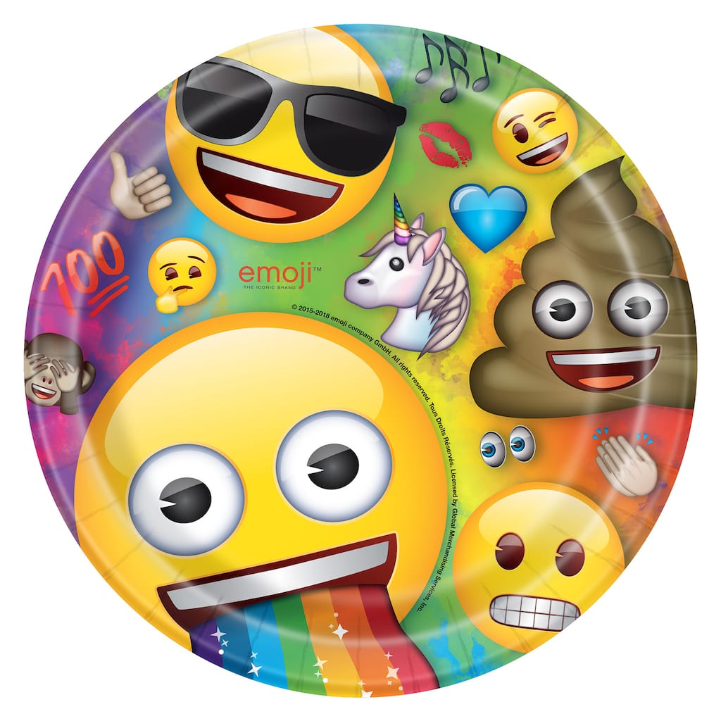 9 Emoji Party Plates 8ct Img