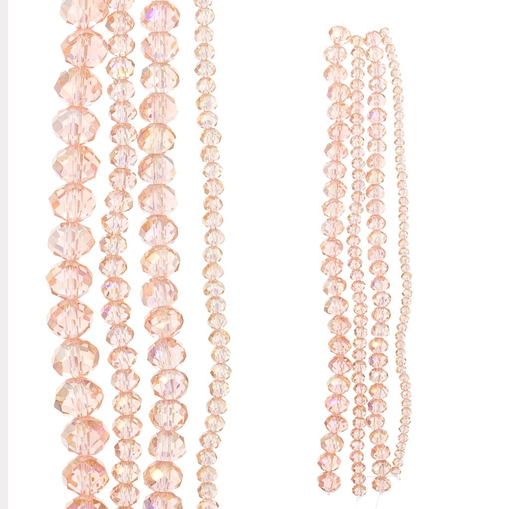 28 Pretty White Glass Beads Pink Flowers Oval Rondelle Shaped Floral Glass Beads White Pink Glass Flower Beads Oval Rondelle Glass #S3744