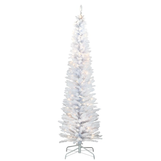 6ft Pre Lit White Iridescent Tinsel Artificial Christmas Tree