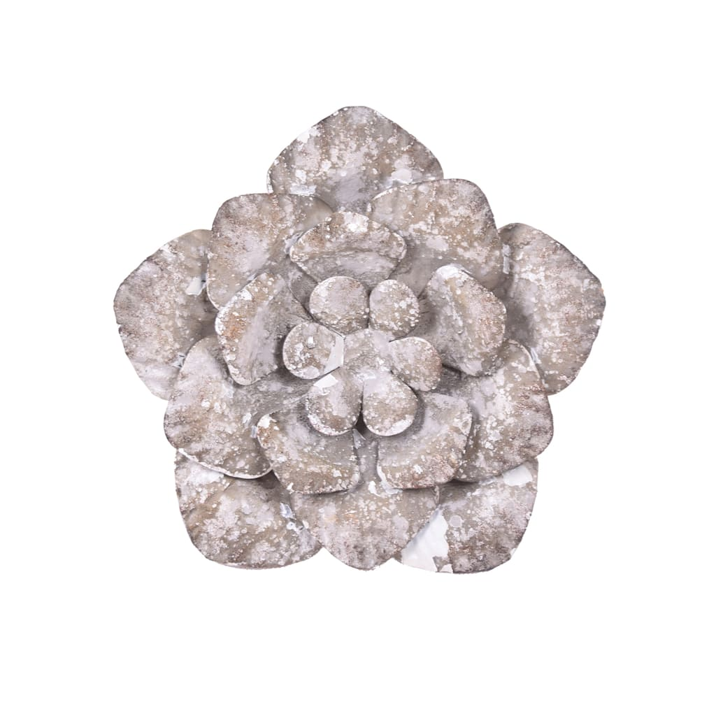 """Galvanized Wall Accent Image: 9.25"""" Galvanized Flower Wall Accent By Ashland®"""