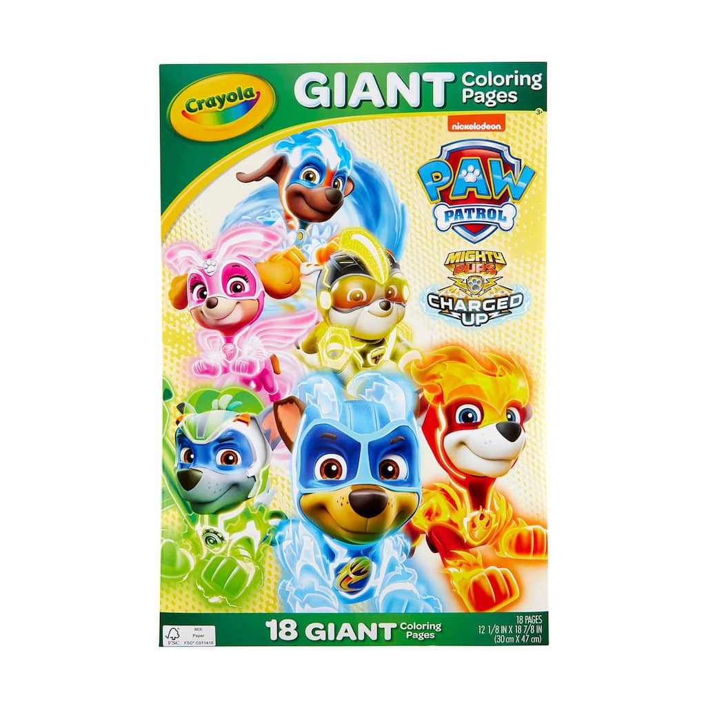 Shop for the Crayola® Paw Patrol® Giant Coloring Pages at Michaels