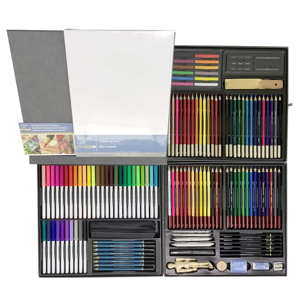 Find the Marker & Pencil Set By Artist\'s Loft®, 140 Pieces at Michaels