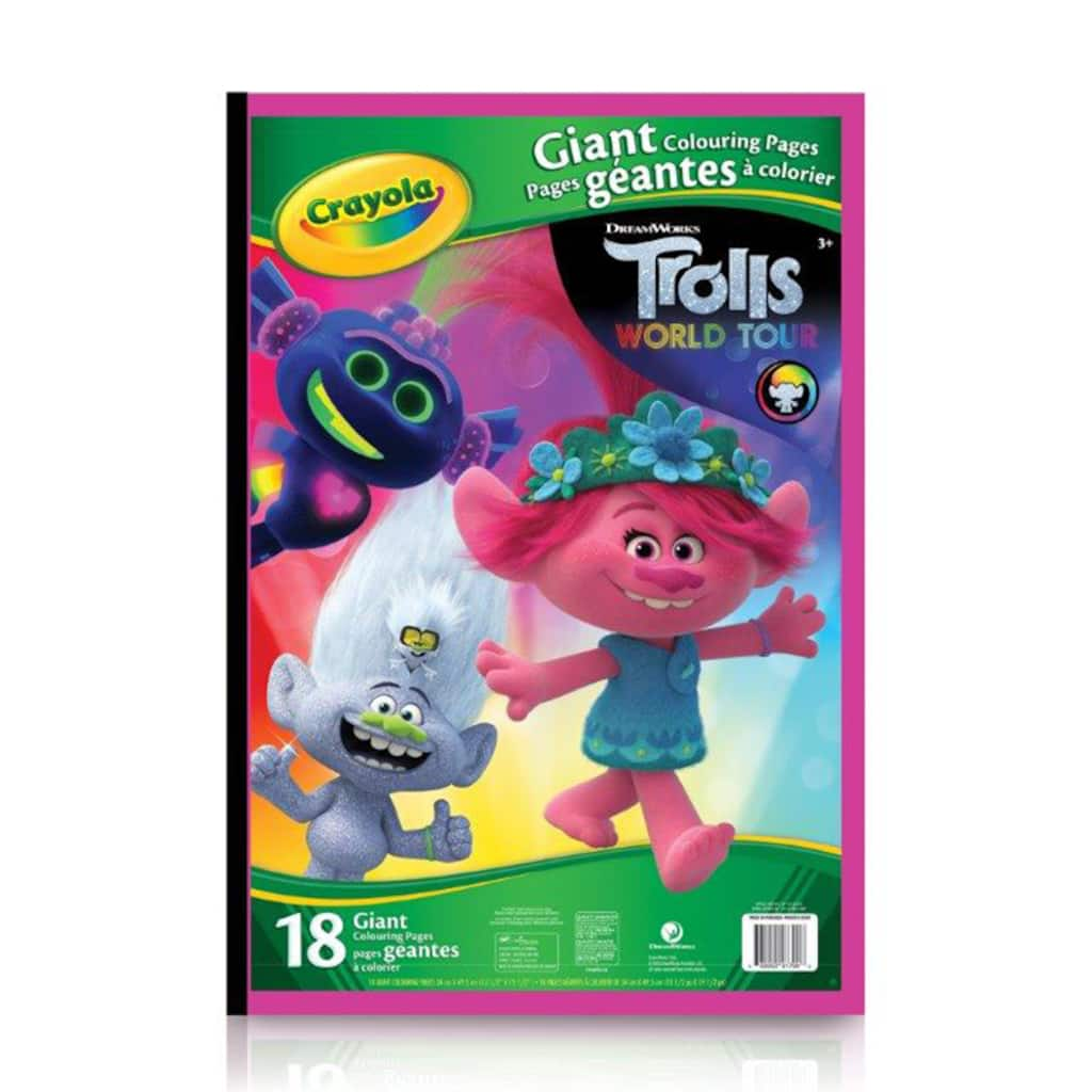 Crayola® Trolls Giant Colouring Pages