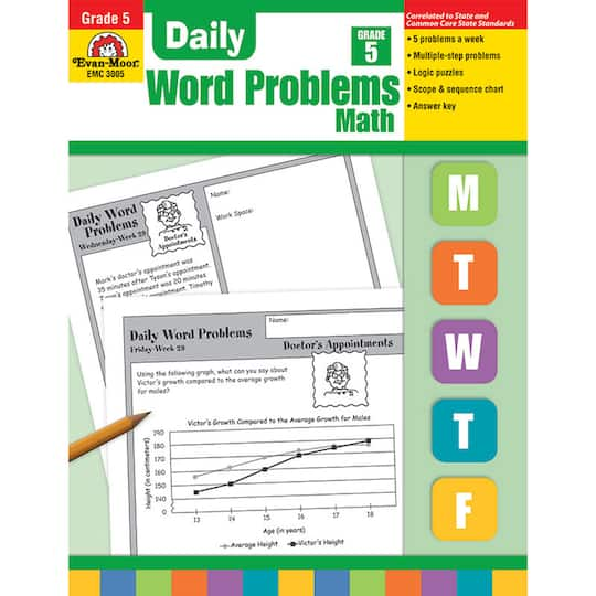Daily Word Problems Book, Grade 5