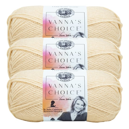 3 ct Lion Brand� Vanna's Choice� Solid Yarn in Beige | 3.5 oz | Michaels�