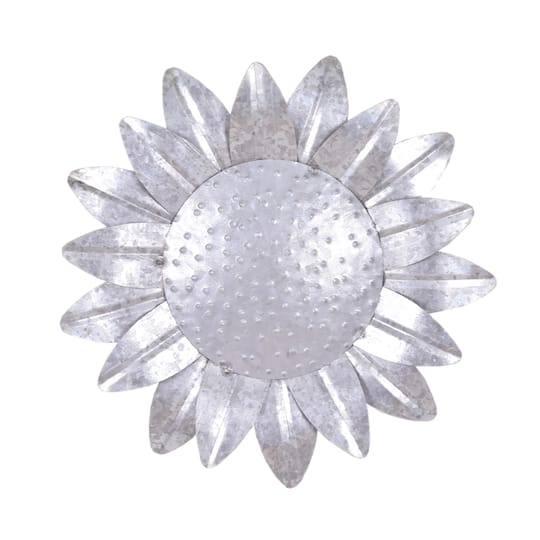 """10"""" Galvanized Metal Sunflower Wall Accent By Ashland"""