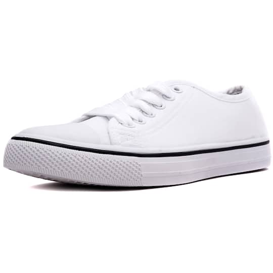 e1fdaec5ad45 Purchase the Orly White Canvas Sneakers at Michaels