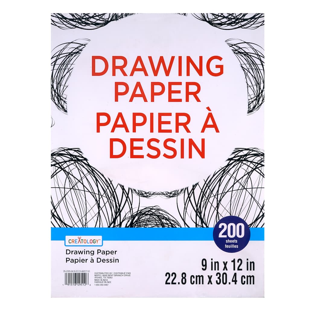 Scarlet Coloring Drawing Paper Item # 9CPSC Heavyweight Construction Paper 9 inches x 12 inches Crafts Kids Art Art Project 50 Sheets Painting Art All Purpose Construction Paper