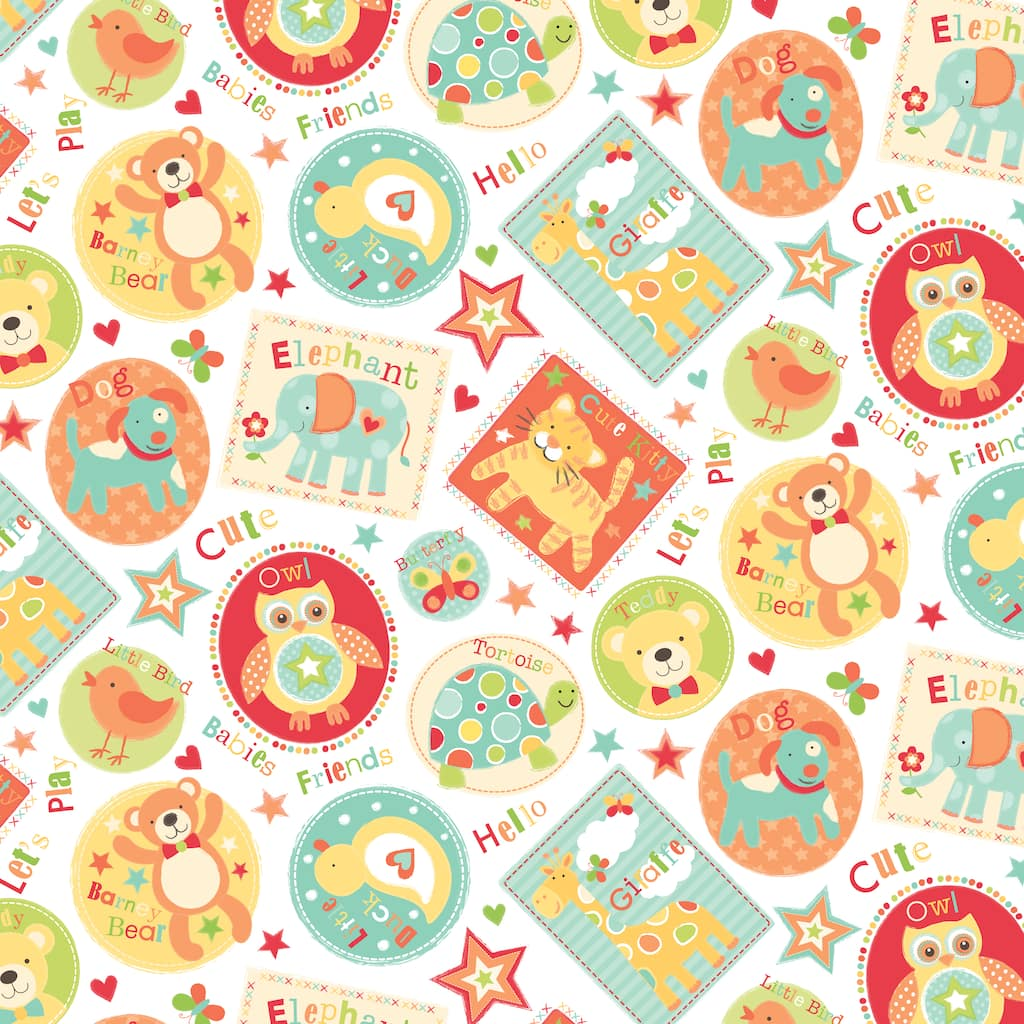 Find the Babies Friends Animals Cotton Home Décor Fabric at Michaels