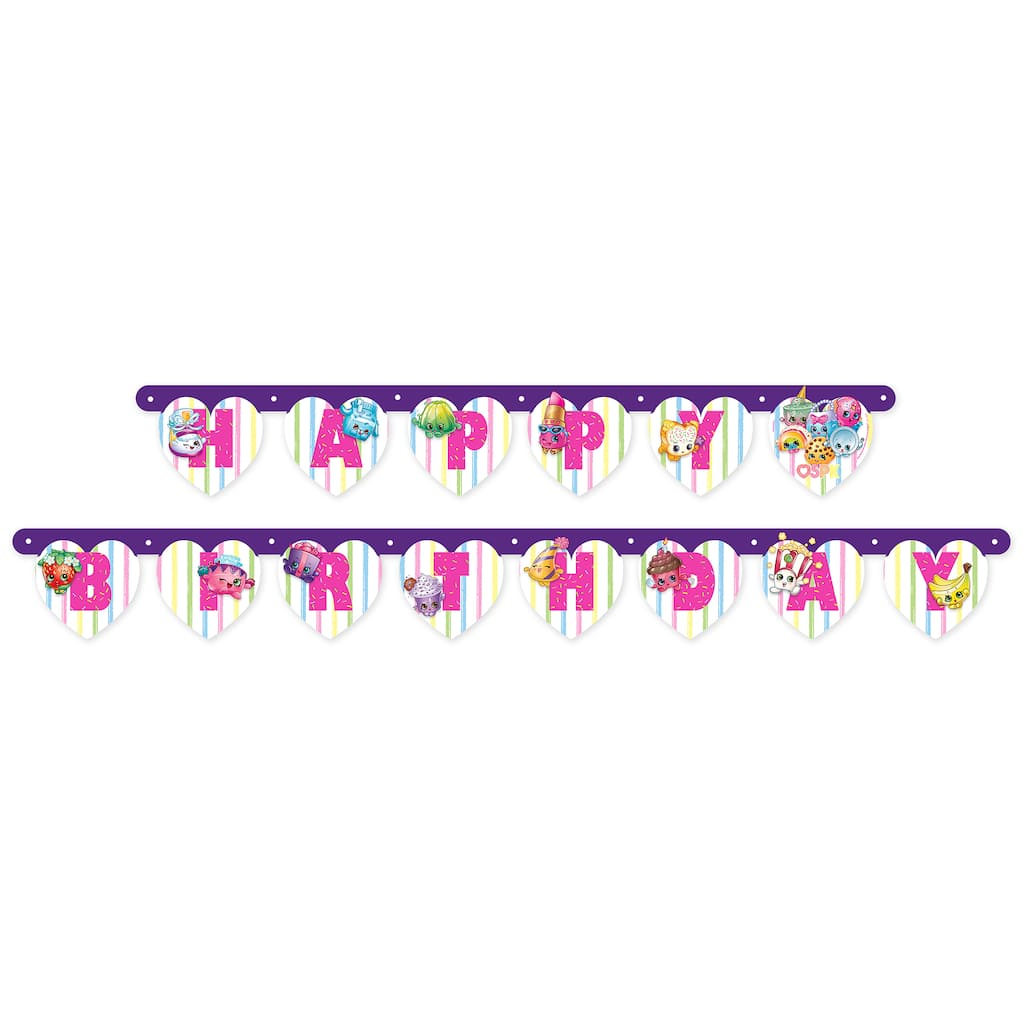 Shopkins Happy Birthday Banner Shopkins Party Decorations