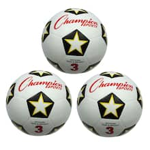 Rubber Soccer Ball Size 3, Pack of 3