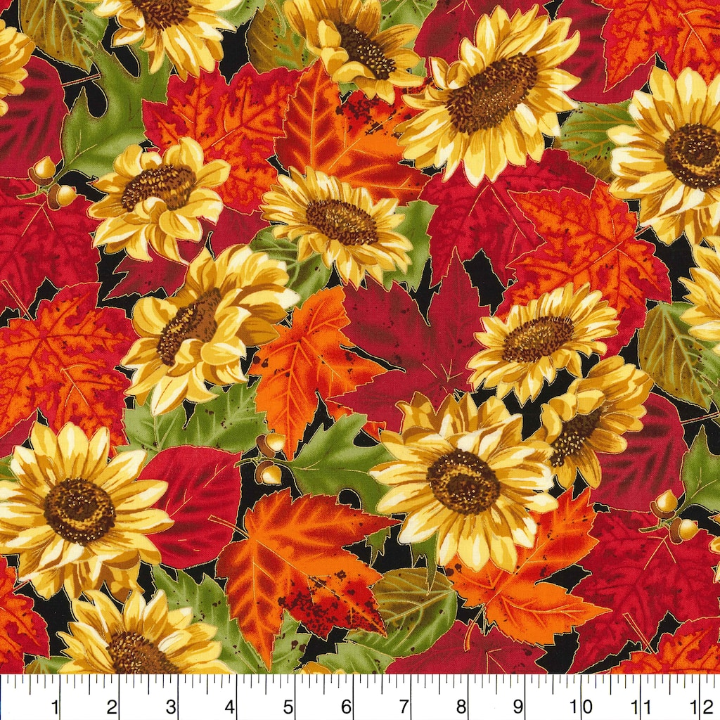Find the Fabric Traditions Fall Sunflowers Cotton Home Décor Fabric at  Michaels.com