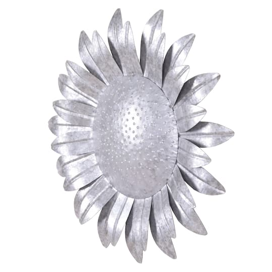 """Galvanized Wall Accent Image: 16"""" Galvanized Metal Sunflower Wall Accent By Ashland"""
