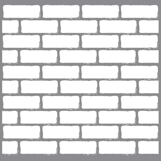 Decoart Americana Brick Wall Stencil, Michaels Furniture Brick