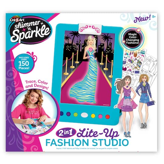 Shop For The Cra Z Art Shimmer N Sparkle Lite Up Fashion Design Studio At Michaels