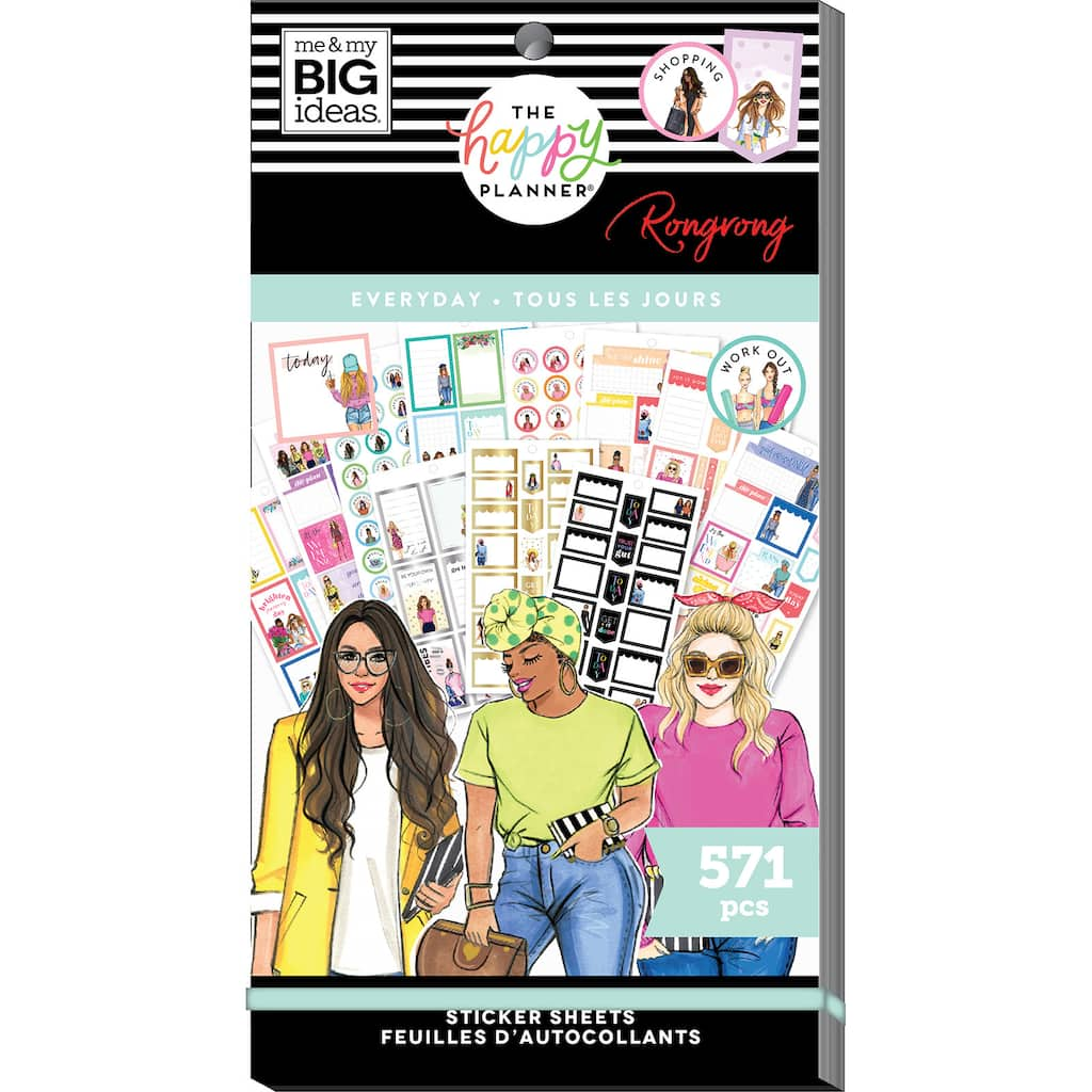 The Happy Planner Rongrong Everyday Sticker Value Pack 571 NEW