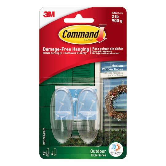 3m Command Medium Clear Window Hooks