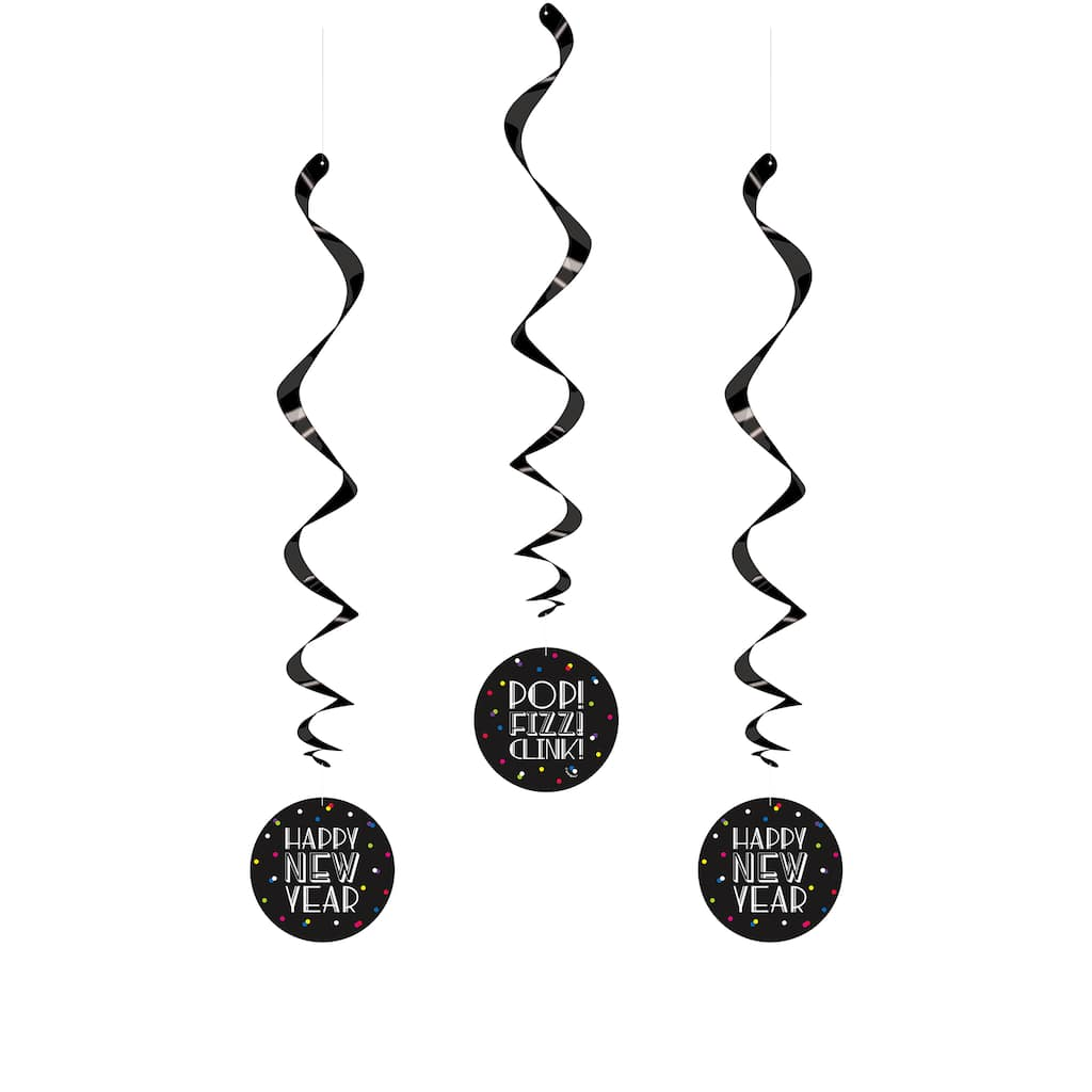 Happy New Year Hanging Decor | Neon New Years Eve Party ...