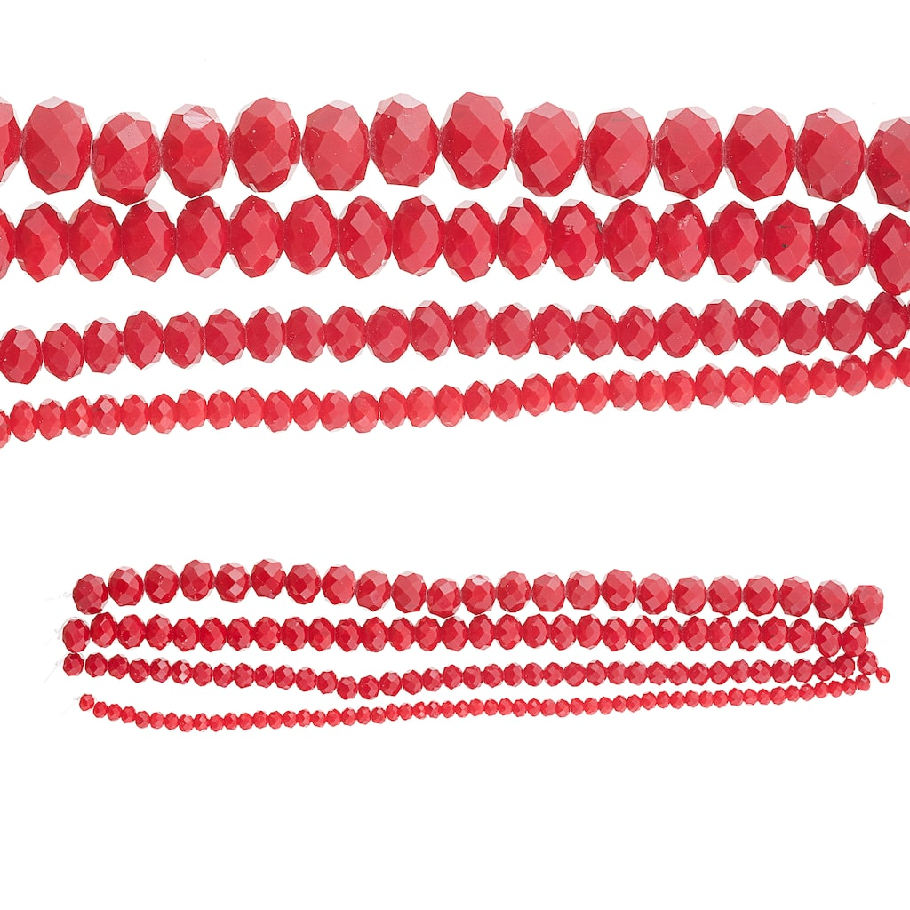red faceted acrylic beads XL Red oval surf board beads large acrylic beads bangle beads jewelry making red oval beads red jewelry