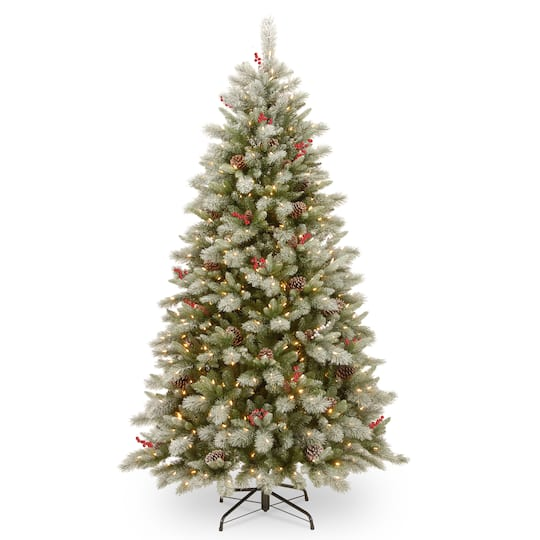 Christmas Berry Tree Hawaii: Get The 7.5ft. Pre-Lit PowerConnect™ Snowy Bristle Berry