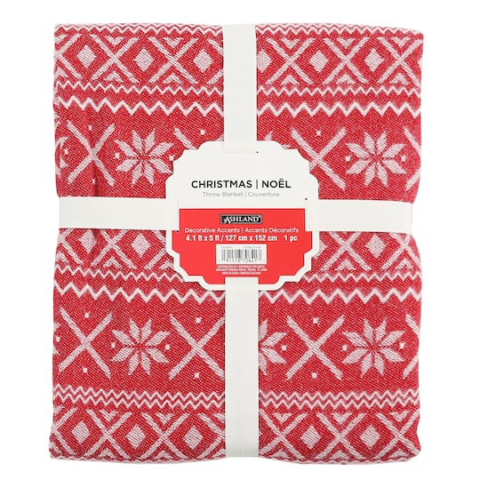 Buy The Red White Fair Isle Throw Blanket By Ashland At Michaels Mesmerizing Red And White Christmas Throw Blanket