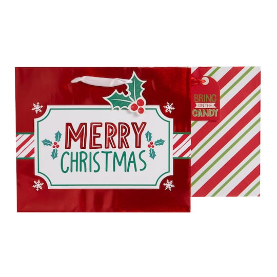 large merry christmas gift bags by celebrate it