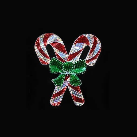 Glass Red /& White Candy Cane Pendant Xmas Craft?
