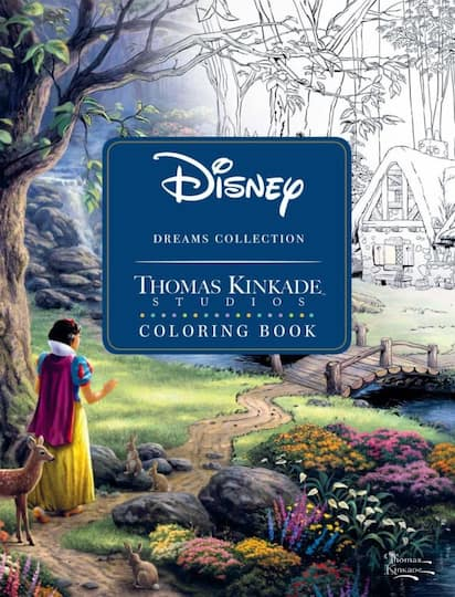 Find Disney Dreams Collection Thomas Kinkade Studios Coloring Book