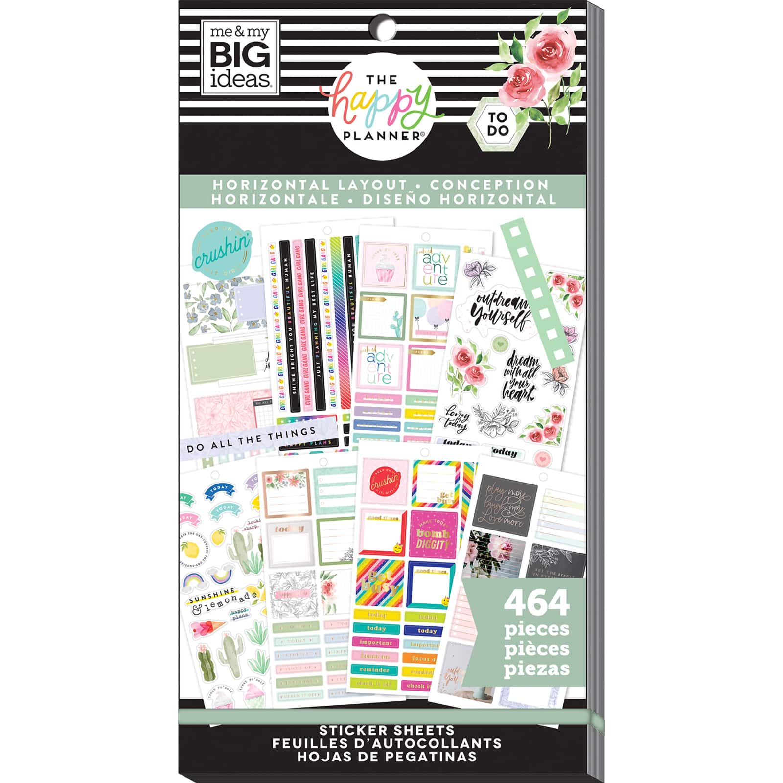 Girl Me /& My Big Ideas Happy Planner Accessory Sticker Value Book YOU Choose