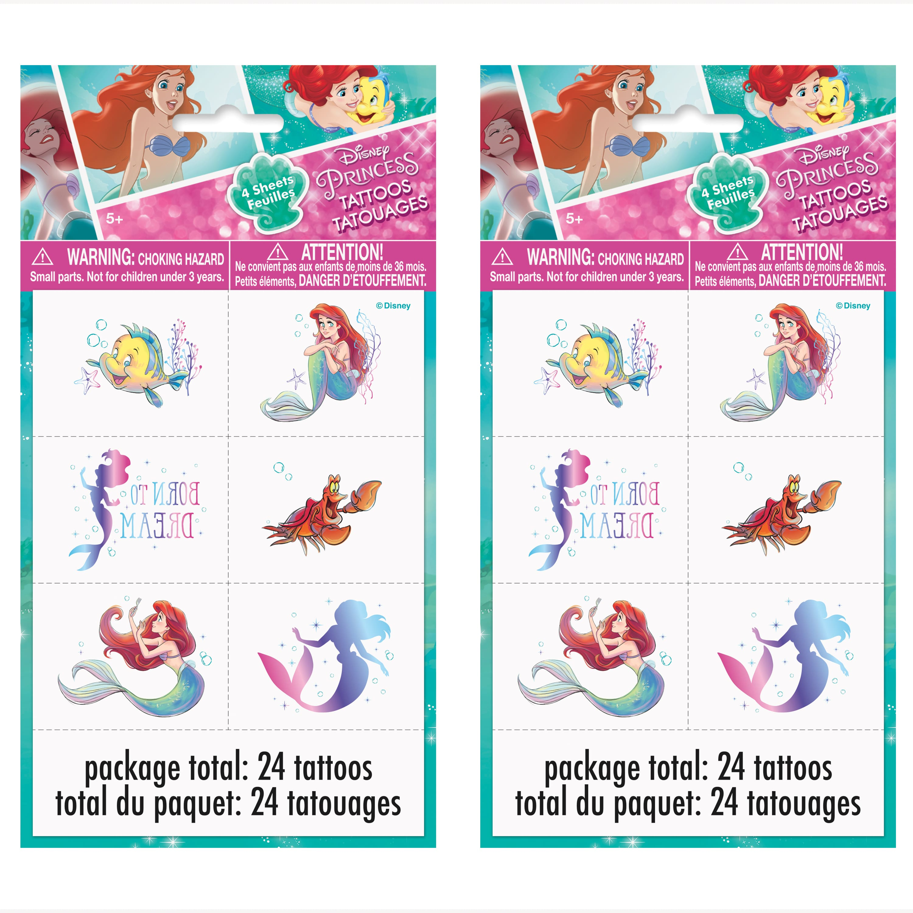 Set of 8 Party Treat Bags by Disney Princess of the Sea by Wilton LITTLE MERMAID