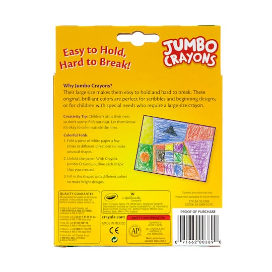Purchase The Crayola Jumbo Easy Grasp Crayons 8ct At Michaels