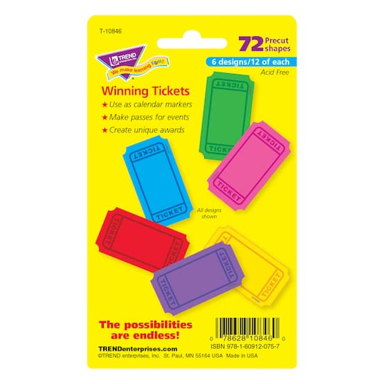 Shop The Trend Enterprises Winning Tickets Mini Accents Variety Pack At Michaels Com