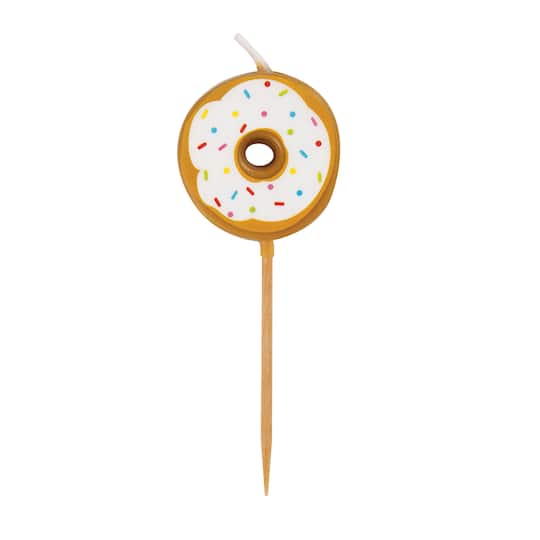 Donut Birthday Cake Candle Picks
