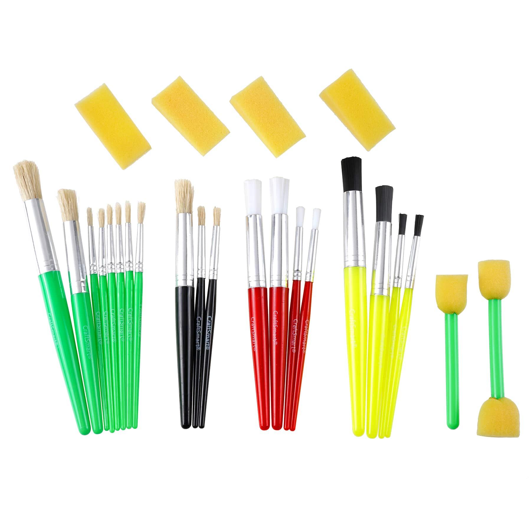 Craft Smart Assorted Foam Brush Value Pack 25 Count