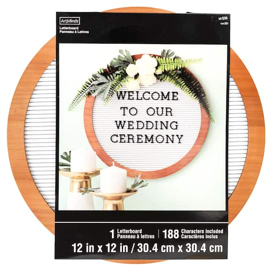 Shop For The Round Wood Letter Board By Artminds At Michaels