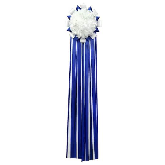 Christmas Homecoming Mum.42 Royal Blue White Single Homecoming Mum By Celebrate It